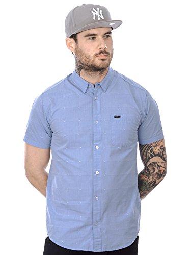 Chemise à manches courtes RVCA VA Dobby Aruba Bleu