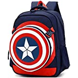 Captain America Shield School Bag for 8-15 Ages Kids Children Student Backpack school Bag