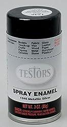 Silver Spray Testors Enamel Plastic Model Paint by TESTORS