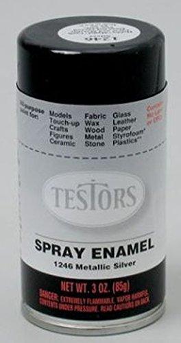 Amazon Com Silver Spray Testors Enamel Plastic Model Paint Toys
