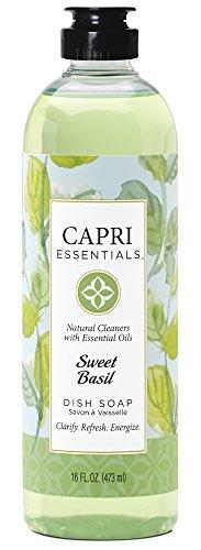 Capri Essentials 832054 16 oz Sweet Basil Dish Soap