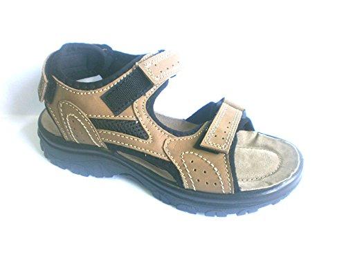 Sana Vital Herren Sandale Sandalette Pantolette 1727202K, braun, echt LEDER