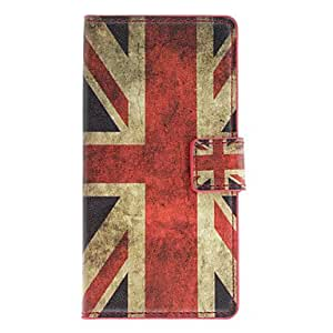 England Flag Pattern Full Body Case with Card Slot for HuaWei Ascend P6