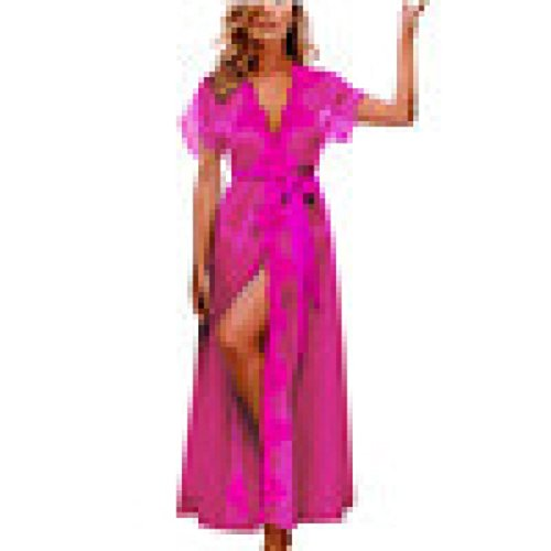 Doll China Costume Victorian (Valentine's Day Gift AfterSo Hot Sale Womens Sexy Chemises Sleepwear Nightdress Bath Robe Coat (Hot Pink,)
