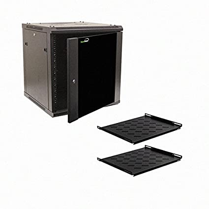 Beau NavePoint 12U Wall Mount Audio Video A/V 24u0026quot; Cabinet Rack Enclosure  Door Lock