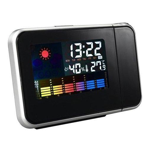 E9Q clima Digital termómetro proyección Snooze despertador Mini ...