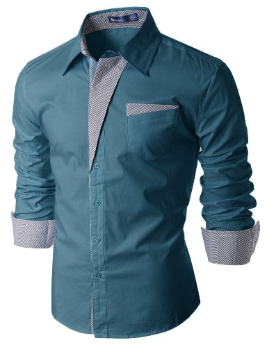 Mens Patch Point SLIM dress shirts (DS41)