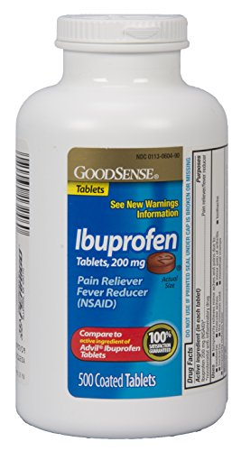 GoodSense Ibuprofen Pain Reliever/Fever Reducer Tablets, 200 mg, 500 Count - Good Sense Ibuprofen