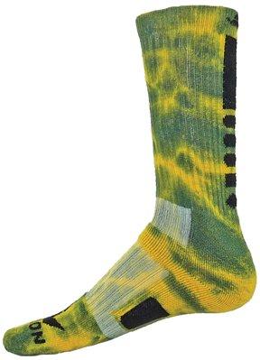 Red Lion Maxim Tie Dye Athletic Socks ( Kelly Green / Gold - Medium ) - Kelly Sox Green