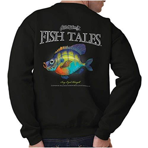 Bug-Eyed Bluegill Fish Funny Fishing Gift Crewneck Sweatshirt Black -