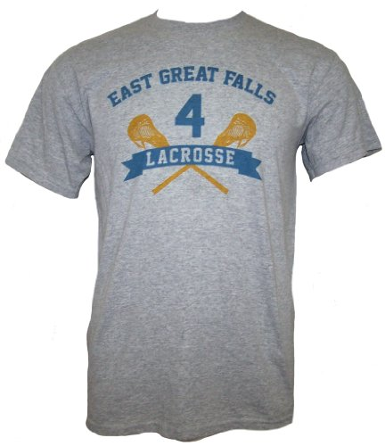 American Pie EAST GREAT FALLS LACROSSE Mens Short Sleeve T-Shirt - Gry ()