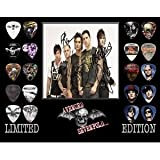 Printed Picks Company Avenged Sevenfold Framed 20 Guitar Pick Set Platinum