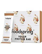 foodspring Vegan Protein Bar, Hazelnoot-Amarant,12-pak, Plantaardige eiwitreep zonder kunstmatige smaakstoffen, weinig suiker en hoog eiwitgehalte