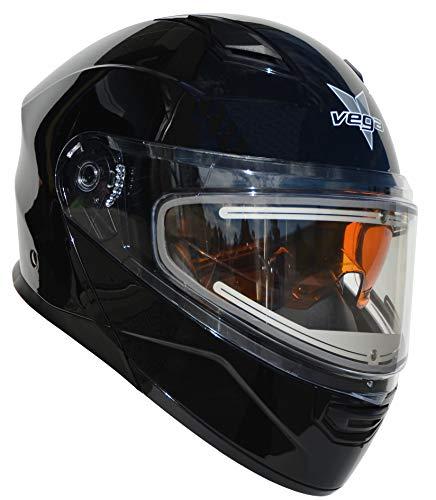 Vega Helmets Unisex-Adult Modular Caldera Electric Snow Snowmobile Helmet with 30% Larger Shield and Sunshield (Gloss Black, X-Large) (Best All Around Snowmobile)