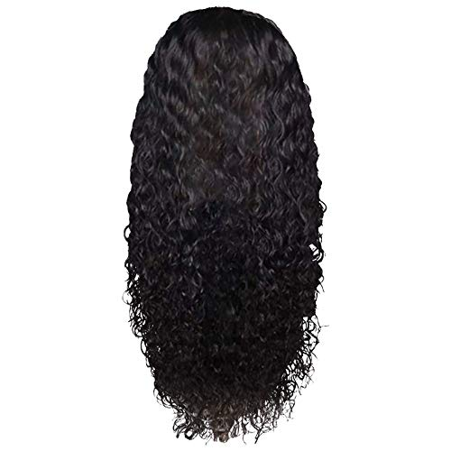 wSelio Glueless Lace Deep Wave Wigs, Density Human Hair Wigs for Black Women Glueless Water Wave Wet and Wavy Human Hair Wigs 22 Inch (E)