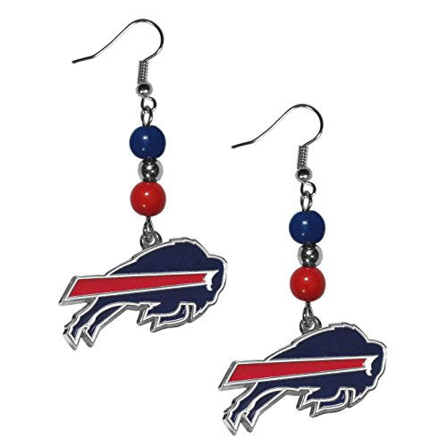 NFL Buffalo Bills Fan Bead Dangle Earrings