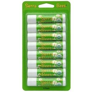 Buddha Balm (Sierra Bees, Organic Lip Balms, Mint Burst, 8 Pack.15 oz (4.25 g) Each)