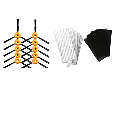 YTT 10 pcs (5 pairs) Cepillo lateral + 5 * Filtro HEPA + 5 * Esponja CONGA EXCELENCIA 990 Piezas Robot Aspirador de polvo: Amazon.es: Hogar
