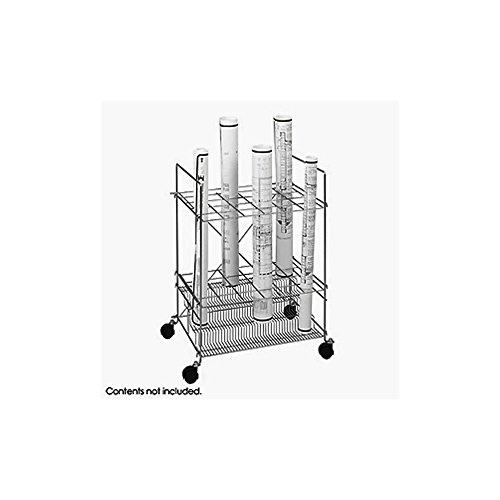 Tiered Chrome Wire Roll File, 24 Compartment Electronics, Accessories, Computer - Safco Chrome Wire Roll File