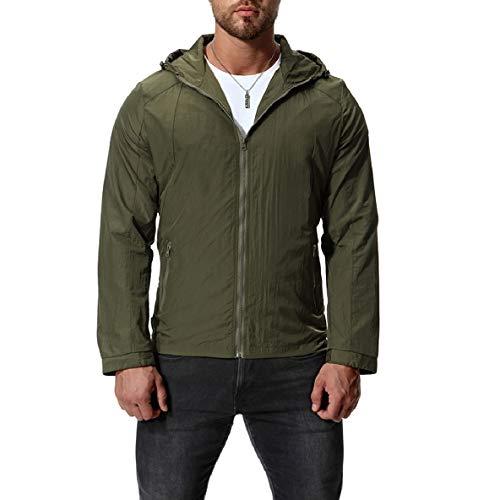 Bomber Hood Plus Coat Coat 3 Size XINHEO Outwear Jacket Mens Zipper Solid nqfwqS84