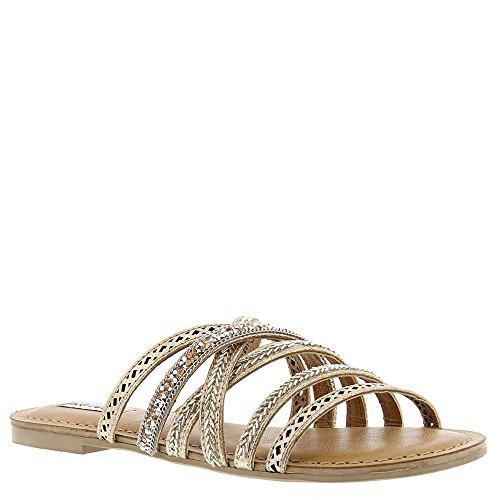 Not Rated Womens B Me Gladiator Sandal  Tan  9 5 M Us