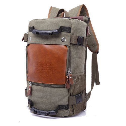 Backpack Brand Stylish Travel Large Capacity Backpack Male Luggage Shoulder Bag Computer Backpacking Men Functional Versatile Bags Army Green   B07PFD44Q8