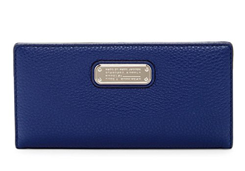 Marc by Marc Jacobs New Q Tomoko Leather Wallet (Dark Blue)
