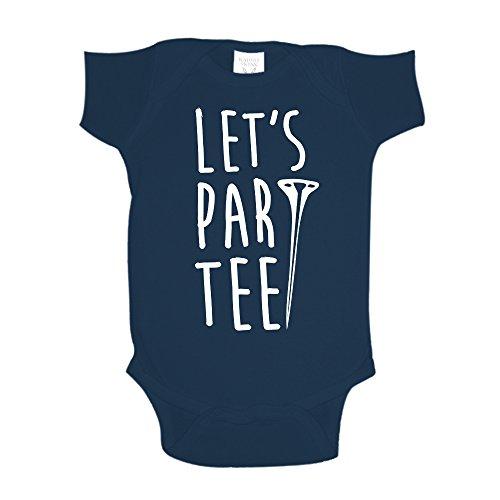 The Shirt Den Let's Par Tee Golf Baby One Piece 12 mo Navy Blue