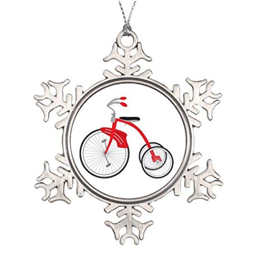 Cheyan Christmas Decoration Cute Vintage Tricycle Halloween Tree Snowflake Ornaments