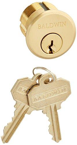 "Baldwin 8322 1-1/8"" Mortise Cylinder C Keyway, Vintage Brass"