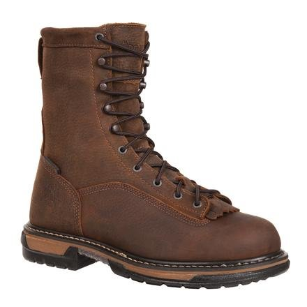 (Rocky Men's Iron Clad Eight Inch LTT Steel Toe Work Boot,Brown,11 M US)