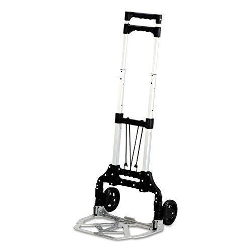 Safco 4049 Stow & Go Cart 110lb Capacity 15 1/4w x 16d x 39h Aluminum