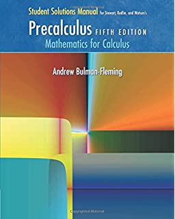 Student solutions manual for stewartredlinwatsons precalculus student solutions manual for stewartredlinwatsons precalculus mathematics for calculus 5th fandeluxe Image collections
