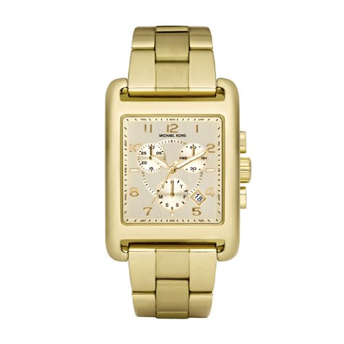 Amazon.com: Michael Kors MK5436 Ladies Jet Set Gold Plated Chronograph Watch: Watches