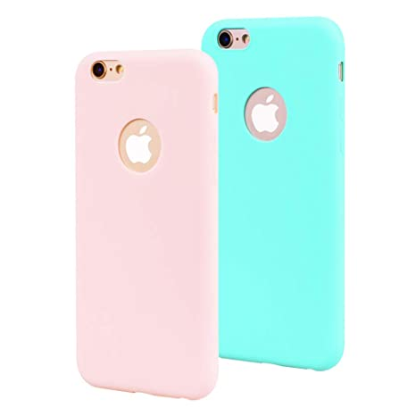 EuCase 2X Funda iPhone 6s Plus Silicona Carcasa iPhone 6 ...