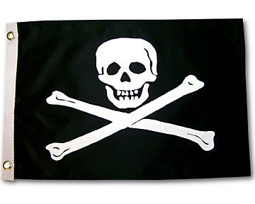 Pirate Jolly Roger Outdoor Garden Flag 12X18in