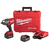 "Milwaukee Electric Tool 2767-22 M18 Fuel, Cordless, Lithium-Ion, 1/2"" High-Torque Impact Wrench"