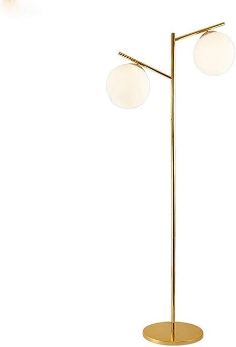 Floor Lamp Sphere Led Floor Lamp Matt Glass Ball Lamp With Two Lights Brasstall Pole Floor Lamp For Living Room Office Bedroom Floor Lamp Amazon De Lighting