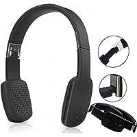 Teastar Wireless Stereo Bluetooth Headphones Folding Foldable Headset Earphones Handband Handsfree with Microphone for Cellphone PC Tablet (Black)