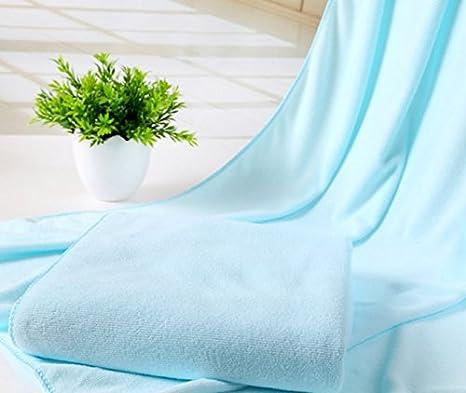 Fhouses New Fashion morbido nano-fiber assorbenti asciugamani da bagno, White, 70*140cm