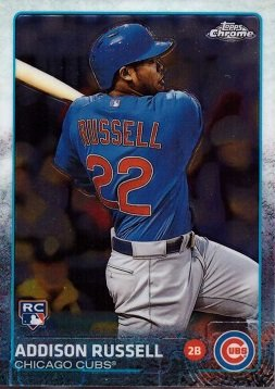 2015 Topps Chrome Baseball #24 Addison Russell Rookie Card – Near Mint to Mint