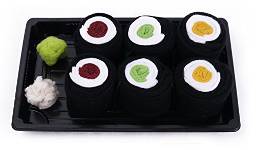 SUSHI SOCKS BOX 3 pairs Maki Tuna Cucumber Oshinko FUNNY GIFT! Made in Europe S by Colors of Rainbow