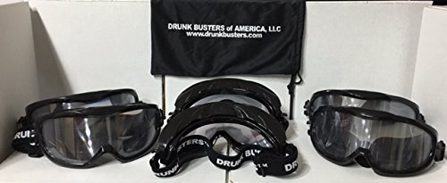 Drunk Busters 6 Pack of Impairment Goggles - Simulating .08-.15 BAC (All 6 goggles included in the package are .08-.15 BAC and are ALL the same)