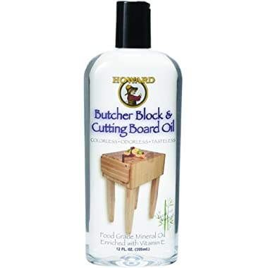 Howard Products BBB012 Butcher Block and Cutting Board Oil, 12-Ounce