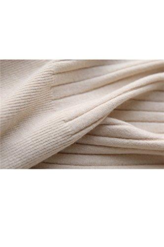Elasticidad manga corta ajuste suéter camisa Yacun mujeres Rice