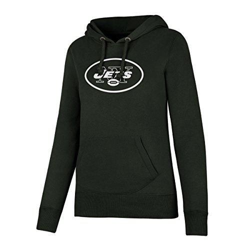 NFL New York Jets Women's Ots Fleece Hoodie, Small, Dark Green -
