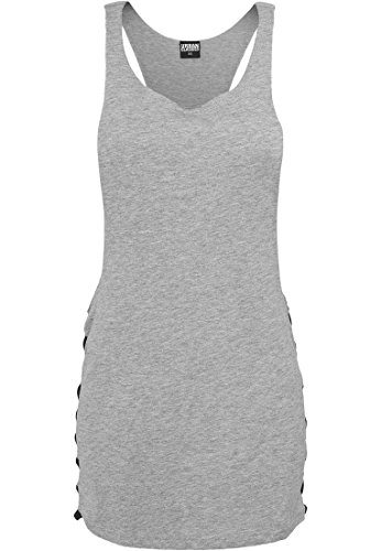 Ladies Side Knotted Loose Tank gry/blk M