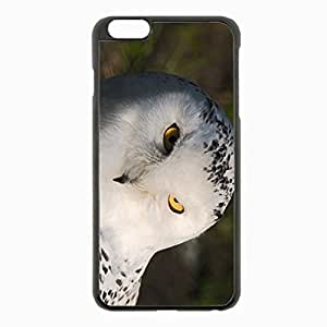 iPhone 6 Plus Black Hardshell Case 5.5inch - owl eyes predator Desin Images Protector Back Cover
