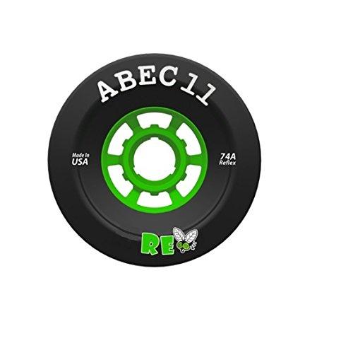 ABEC 11 SuperFly Black Longboard Skateboard Wheels - 107mm 74a (Set of 4)