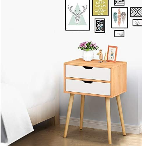 Lebeauty Nightstand with 2 Drawers Bedside Table Assemble Storage Cabinet  Locker Unique Modern Design Bedroom Side Table Office Bedside End Table  Easy ...